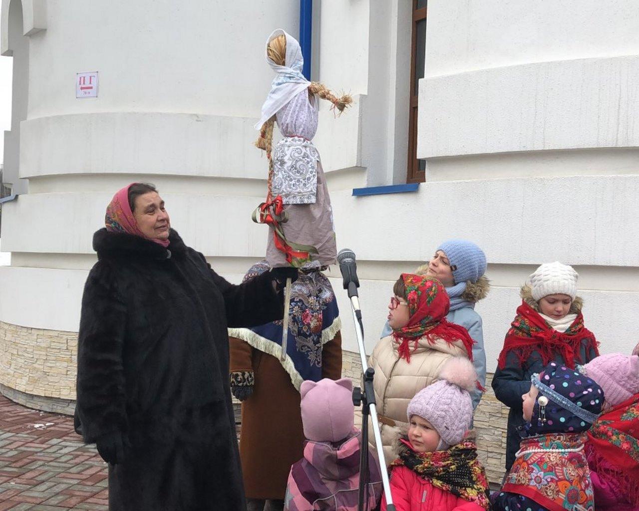 Проводы масленицы на территории храма святого пророка Божия Илии в Северном Бутово