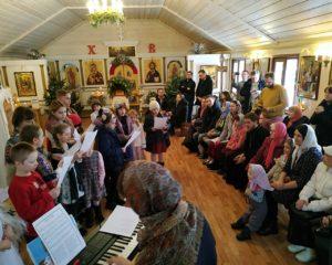 Рождественская постановка в храме Священномученика Василия, протоиерея Московского, в Конькове