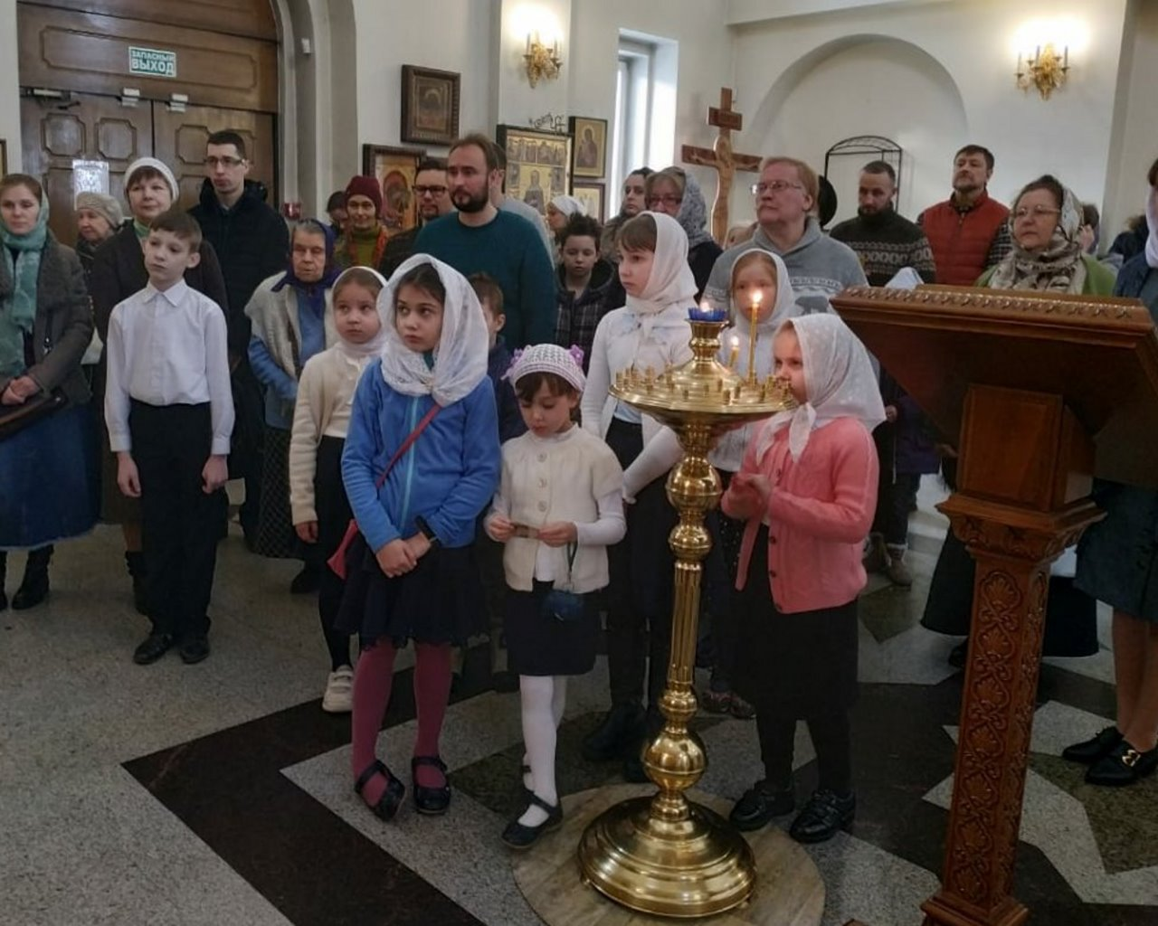 Детская Литургия в Храме Казанской иконы Божией Матери